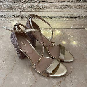 ALDO Heels Gold Size 40